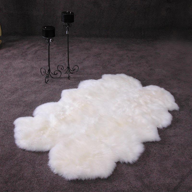 新西兰原产Classic Sheepskin羊毛毯地毯 白色