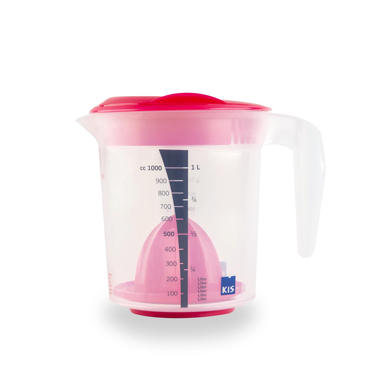 意大利原产KIS食品级环保手动榨汁机果汁机榨汁器1000ml 浅粉色