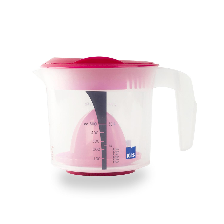 意大利原产KIS食品级环保手动榨汁机果汁机榨汁器500ml 浅粉色