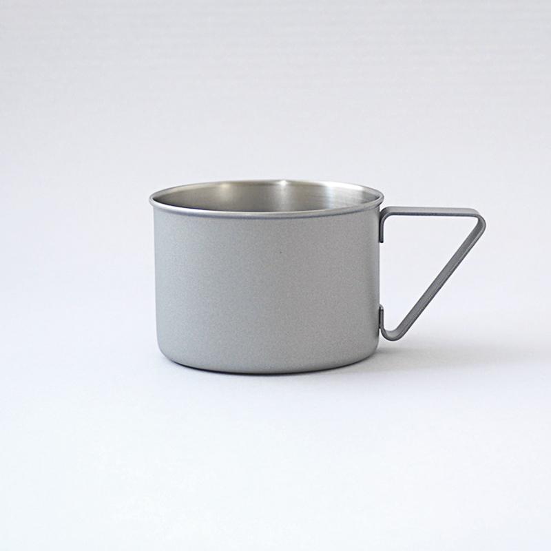 日本elfin高桑金属不锈钢创意复古马克杯子咖啡杯水杯啤酒杯 灰色