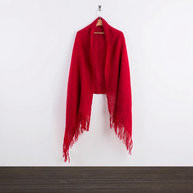 新西兰 Stansborough 指环王系列理查兹花边披肩围巾 大红