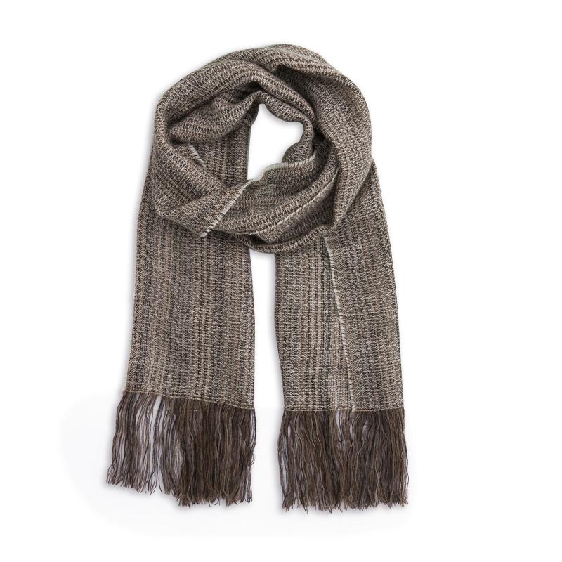 新西兰Stansborough指环王系列灰羊毛编织围巾 米色