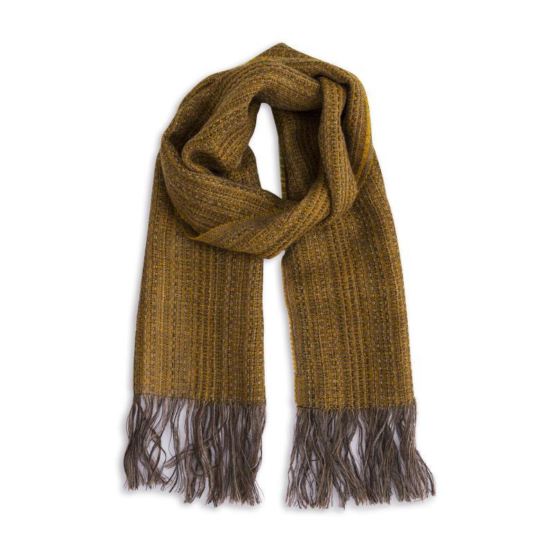 新西兰Stansborough指环王系列灰羊毛编织围巾 金黄