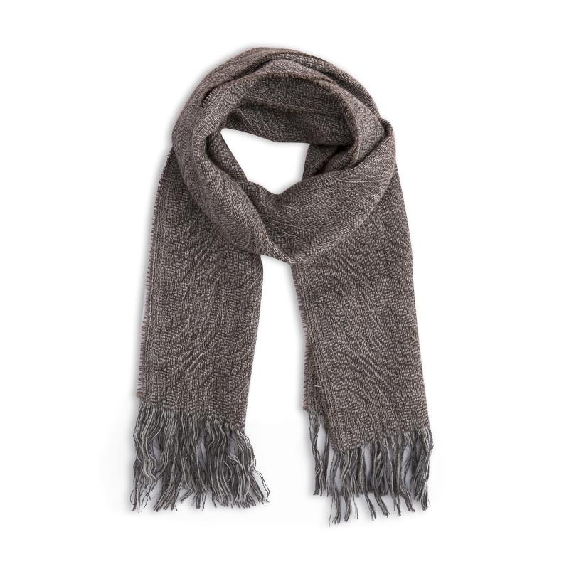 新西兰Stansborough指环王系列灰羊毛保暖围巾26x180cm 土黄