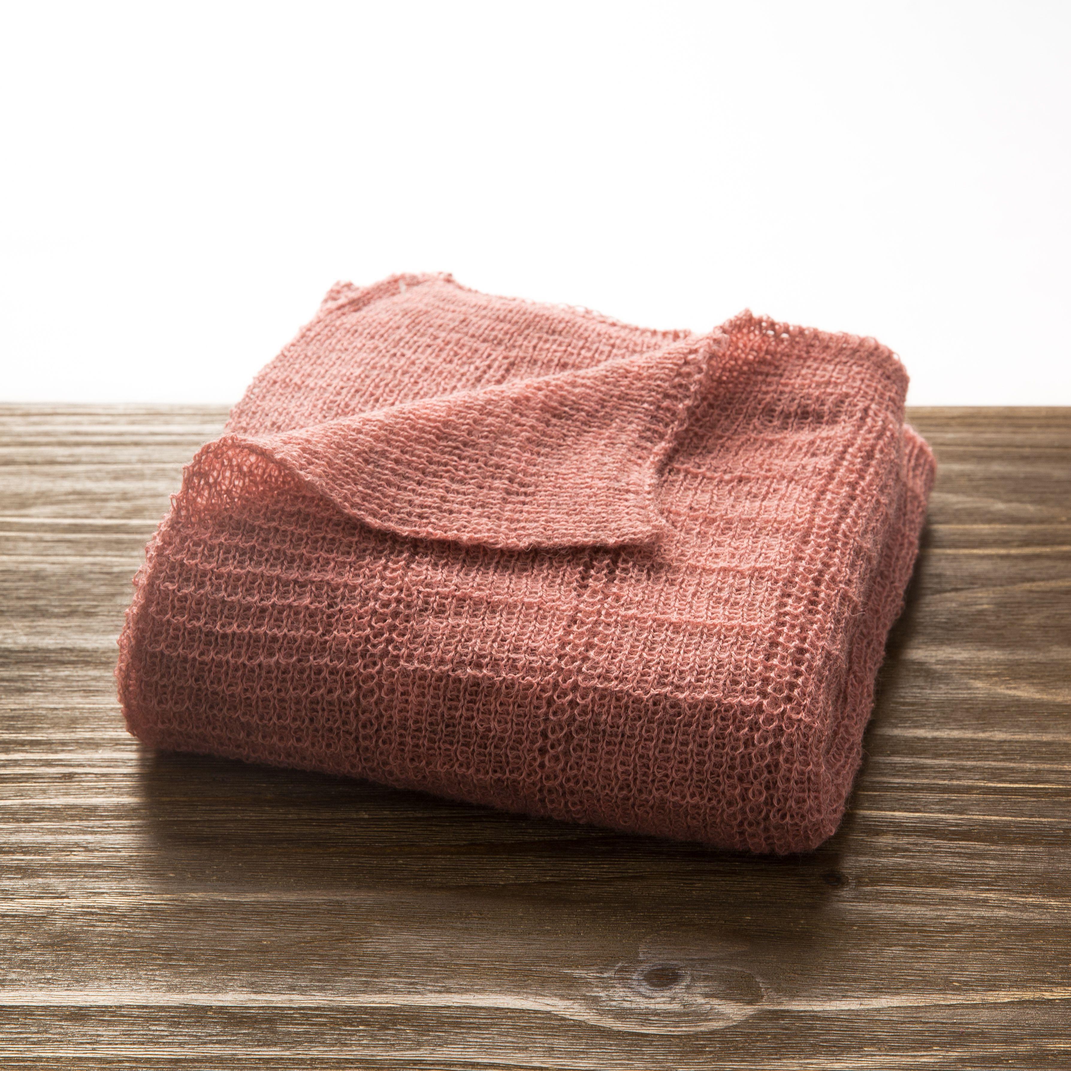 新西兰原产Stansborough指环王灰羊毛针织婴儿车毯盖毯 粉红