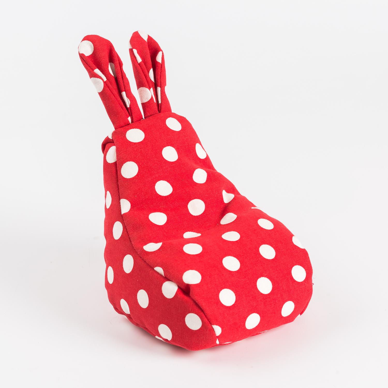 韩国原产rabito兔型小沙袋手机支架懒人支架手机座 红底白点