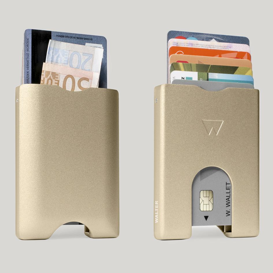 荷兰原产WALTER WALLET多卡合一卡包金属卡套卡夹 玫瑰金