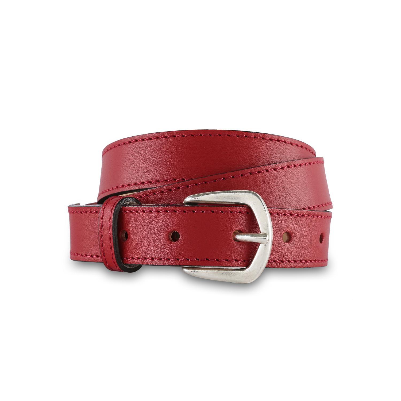 法国原产LES ATELIERS FOURES牛皮皮带女士皮带腰带 红色
