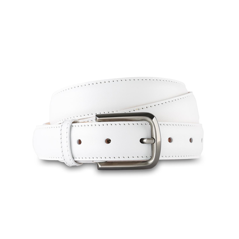 法国原产LES ATELIERS FOURES牛皮皮带女士皮带腰带 白色