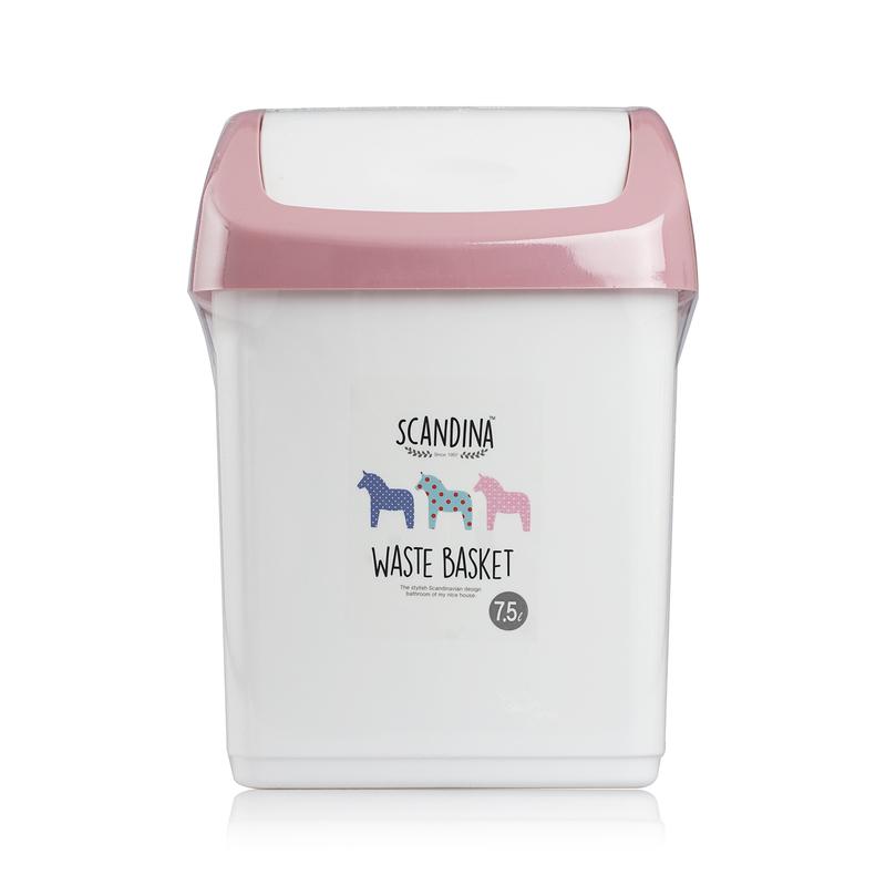 韩国原产SCANDINA翻盖垃圾桶卫生纸桶废纸篓 白色