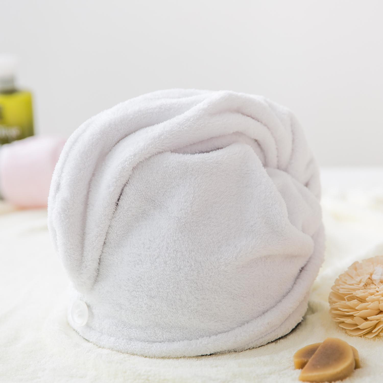 韩国原产Laurenhills超细纤维浴帽干发帽包头巾 白色