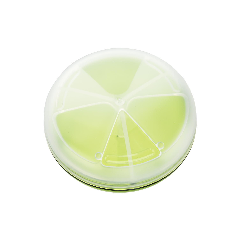 日本原产inomata塑料便携药盒多格迷你药盒旅行药片收纳盒 浅绿