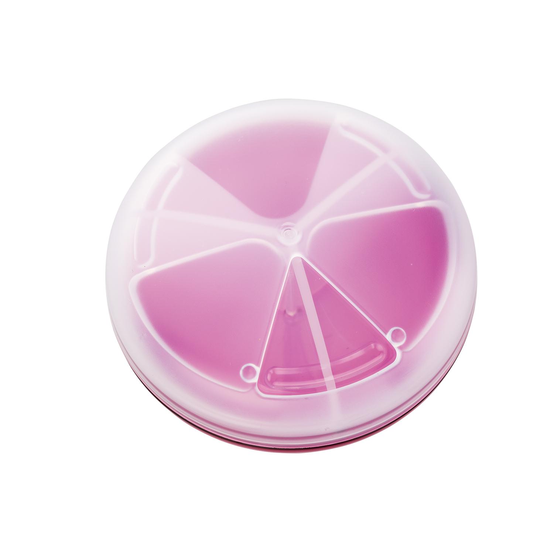 日本原产inomata塑料便携药盒多格迷你药盒旅行药片收纳盒 红色