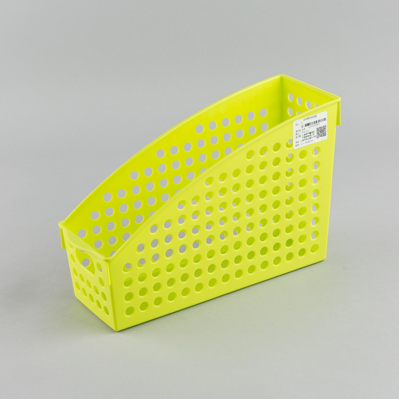 日本原产inomata厨房立式收纳篮桌面置物篮收纳筐储物篮 绿色