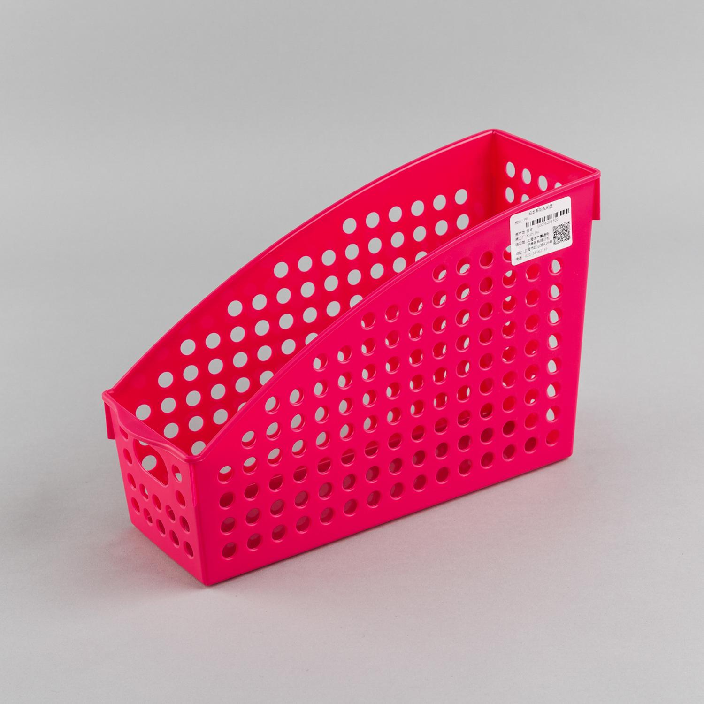 日本原产inomata厨房立式收纳篮桌面置物篮收纳筐储物篮 玫红