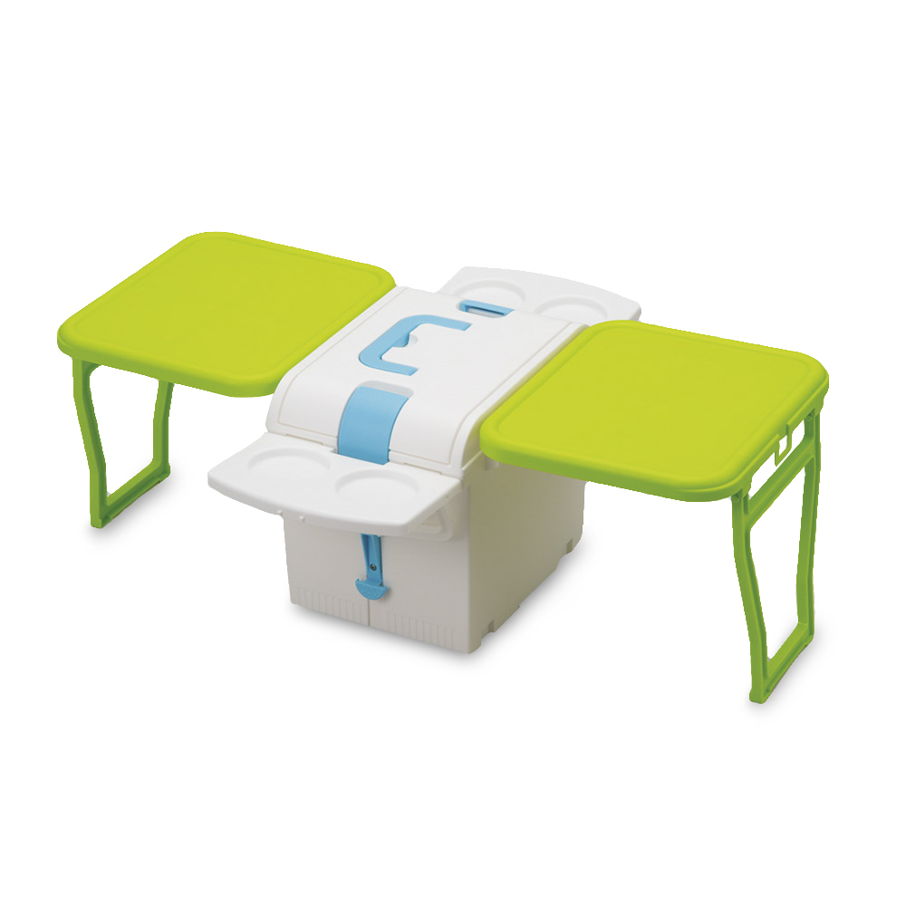 日本原产Imotaniイモタ二车载户外折叠野餐桌保温保冷收纳箱 绿色