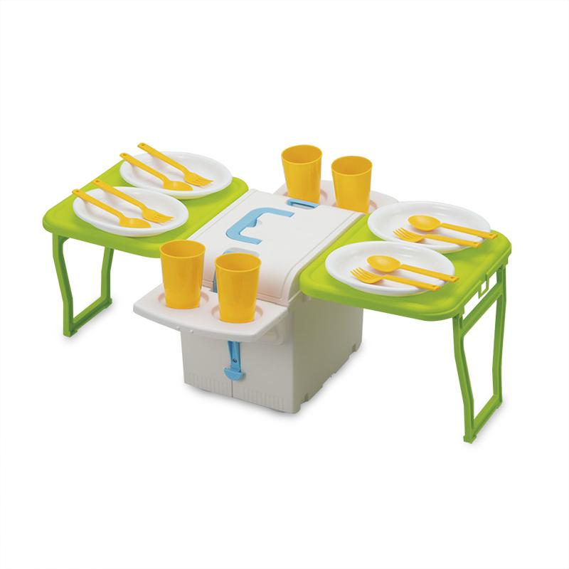 日本原产Imotaniイモタ二车载户外保温保冷折叠野餐桌带餐具 彩色