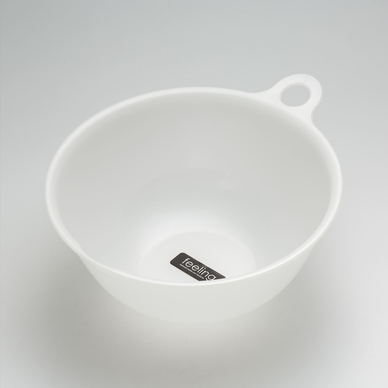 日本原产inomata塑料不可沥水洗菜蓝水果收纳篮沥水碗清洗盆 白色