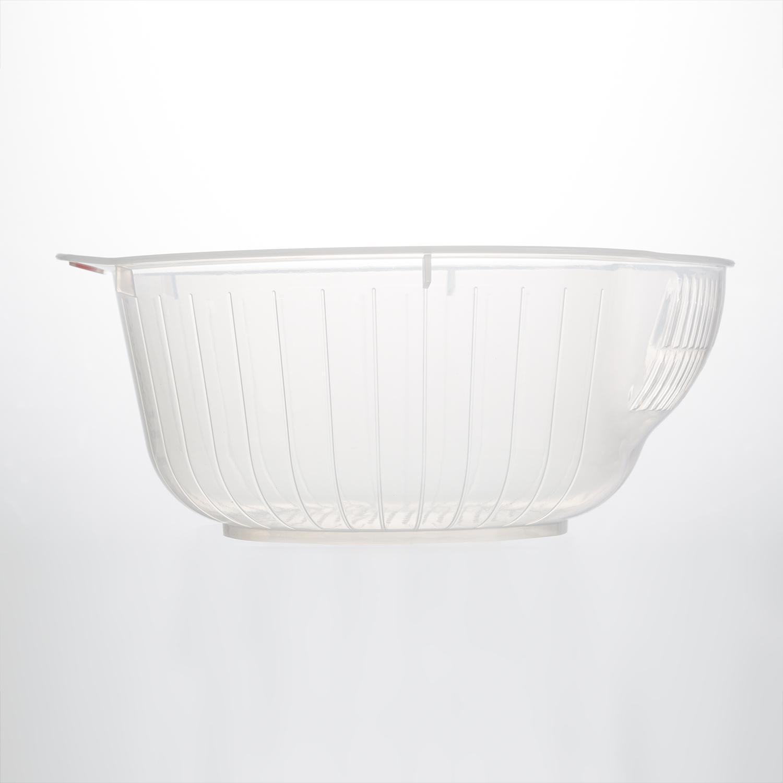 日本原产inomata塑料淘米篮厨房淘米盆洗米筛洗菜盆沥水器 透明 M