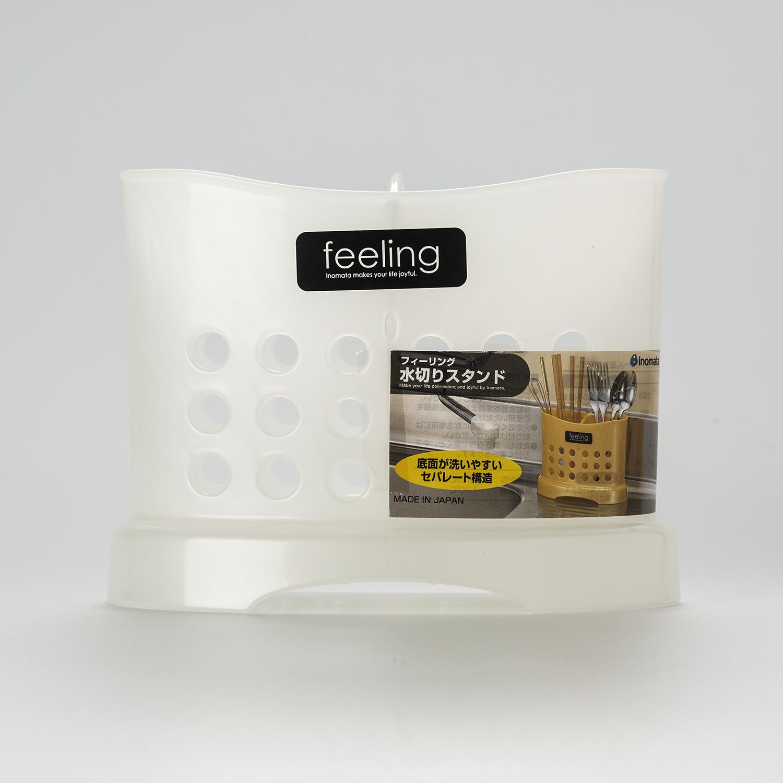 日本原产inomata塑料筷笼筷子架筷子桶沥水筷子筒筷篓筷子盒 白色