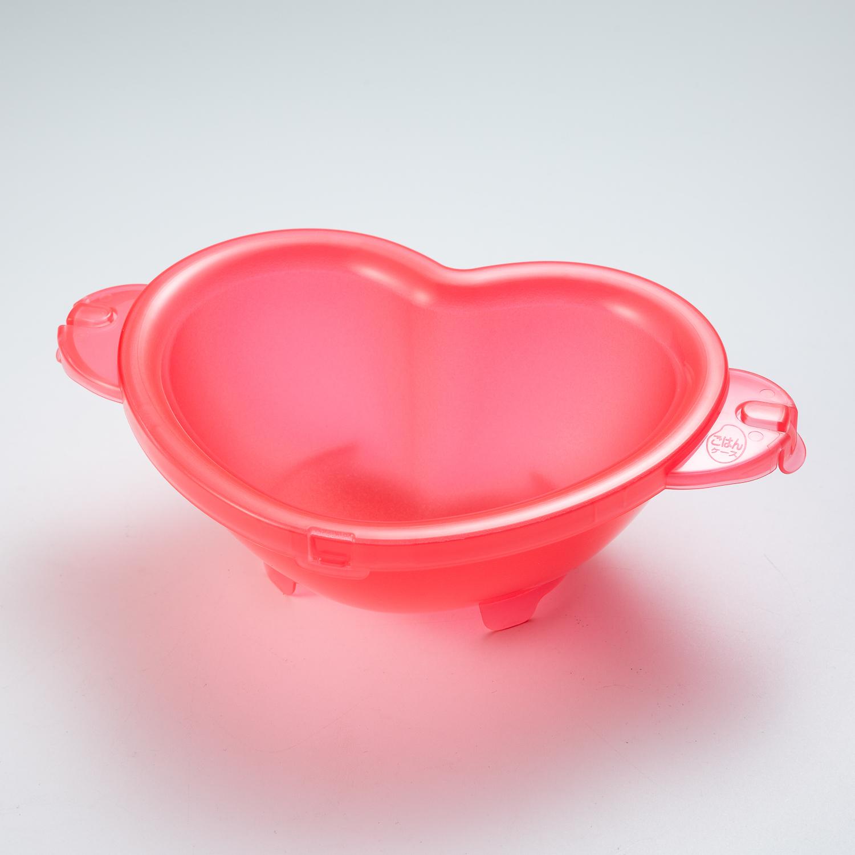 日本原产IMOTANI心形微波炉蒸煮容器   粉色