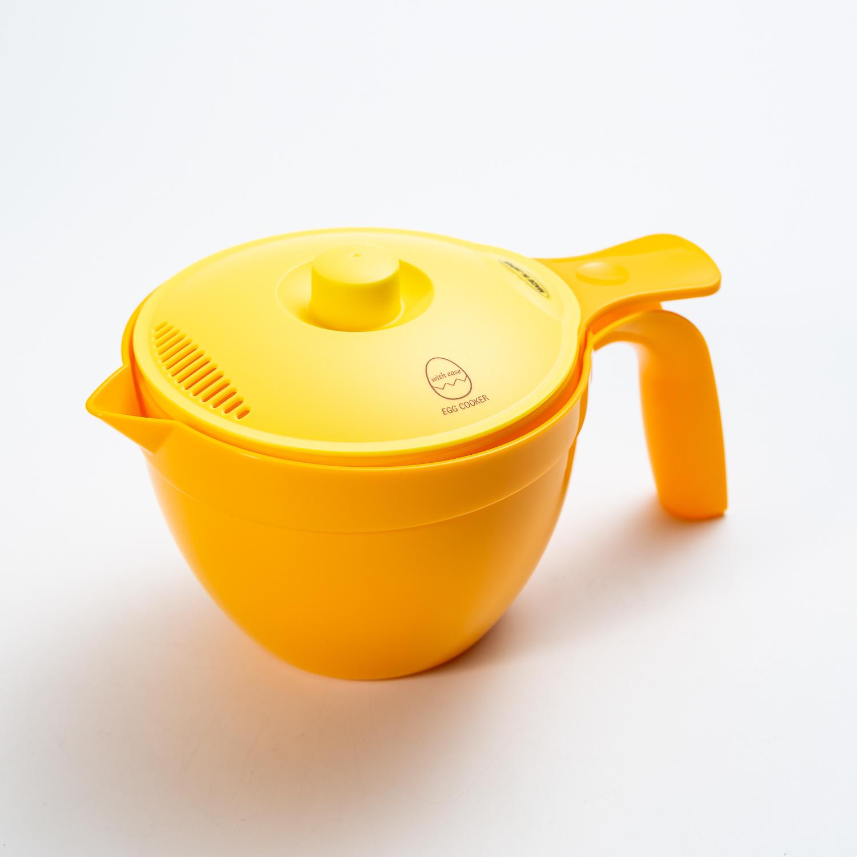 日本原产IMOTANI便捷煮蛋器蒸煮器多功能微波料理容器 黄色