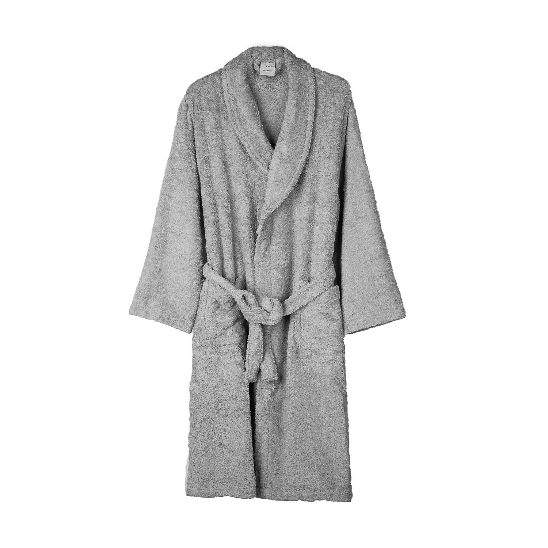 法国原产Tradi linge全棉浴袍浴衣睡袍 灰色 S