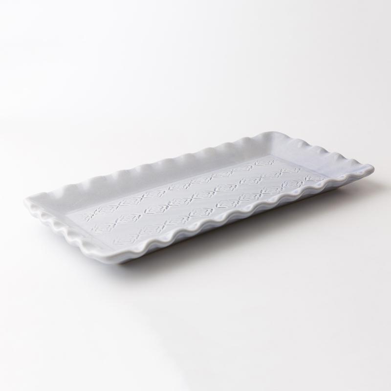 瑞典原产gerbera design手工小吃餐盘鱼盘寿司菜盘 浅蓝