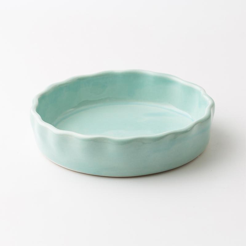 瑞典原产gerbera design手工点心盘沙拉盘果盘 蓝绿