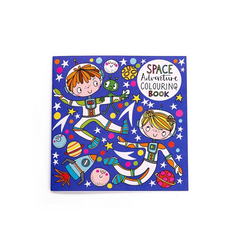 英国Rachel Ellen Designs儿童画图本填色书绘本 太空冒险