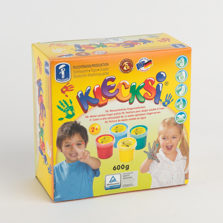 德国原产FEUCHTMANN儿童手指画颜料 彩色