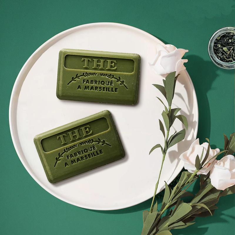 法国原产FOUFOUR精油手工皂马赛皂洁面皂绿茶