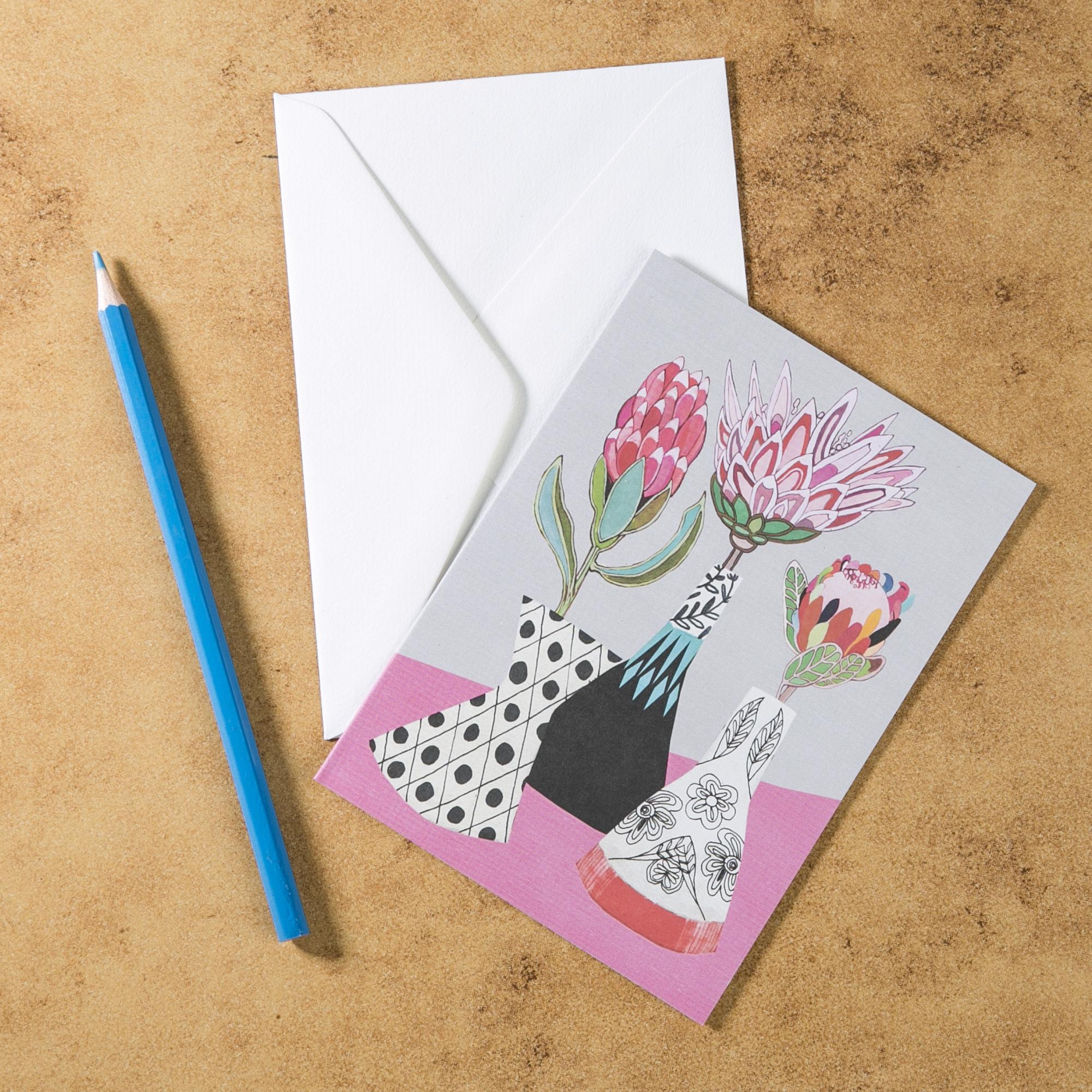 新西兰原产Tikitibu 原生花束 贺卡明信片创意生日贺卡 彩色
