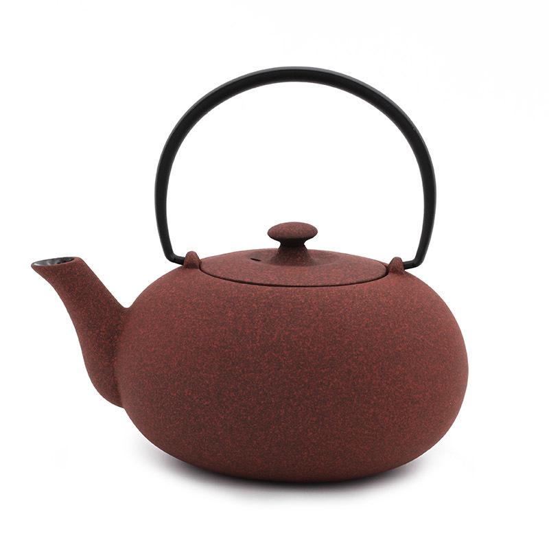 日本原产WAZUQU菊地保寿堂急须铸铁茶壶水壶600ml 茶色
