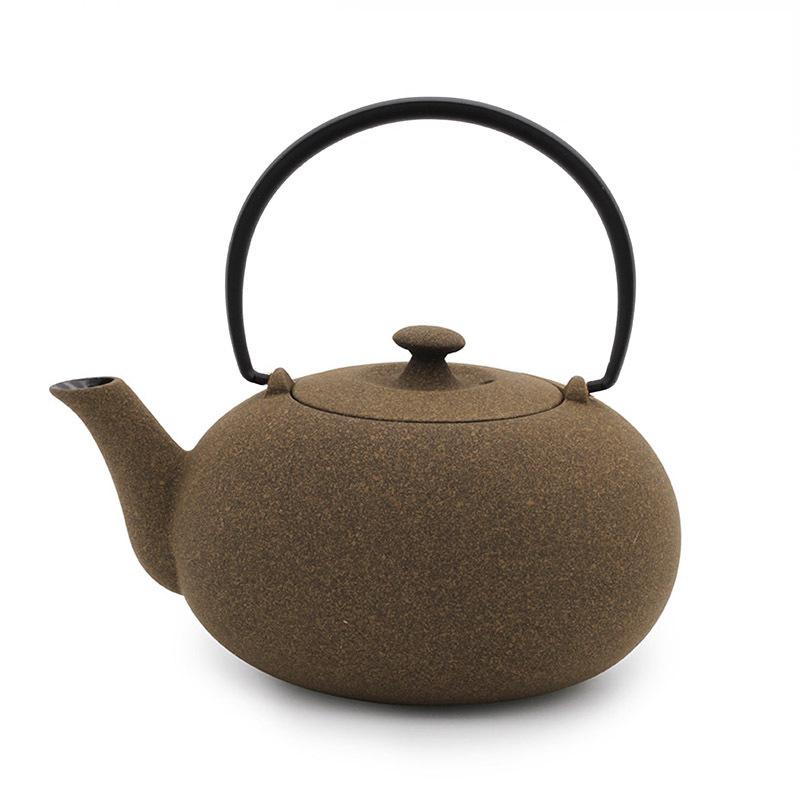 日本原产WAZUQU菊地保寿堂急须铸铁茶壶水壶600ml 黄色