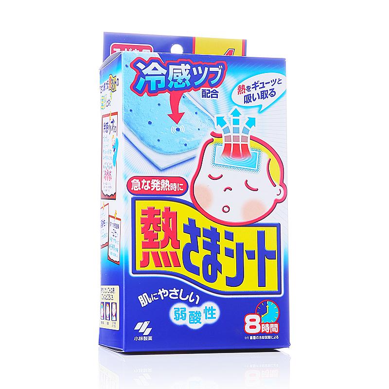 日本小林制药儿童用物理降温贴(12片+4片) 蓝色