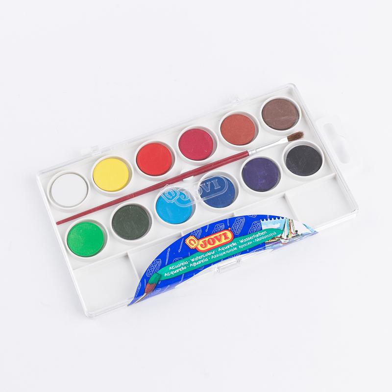 西班牙原产JOVI固体粉饼水彩颜料写生绘画颜料 12色