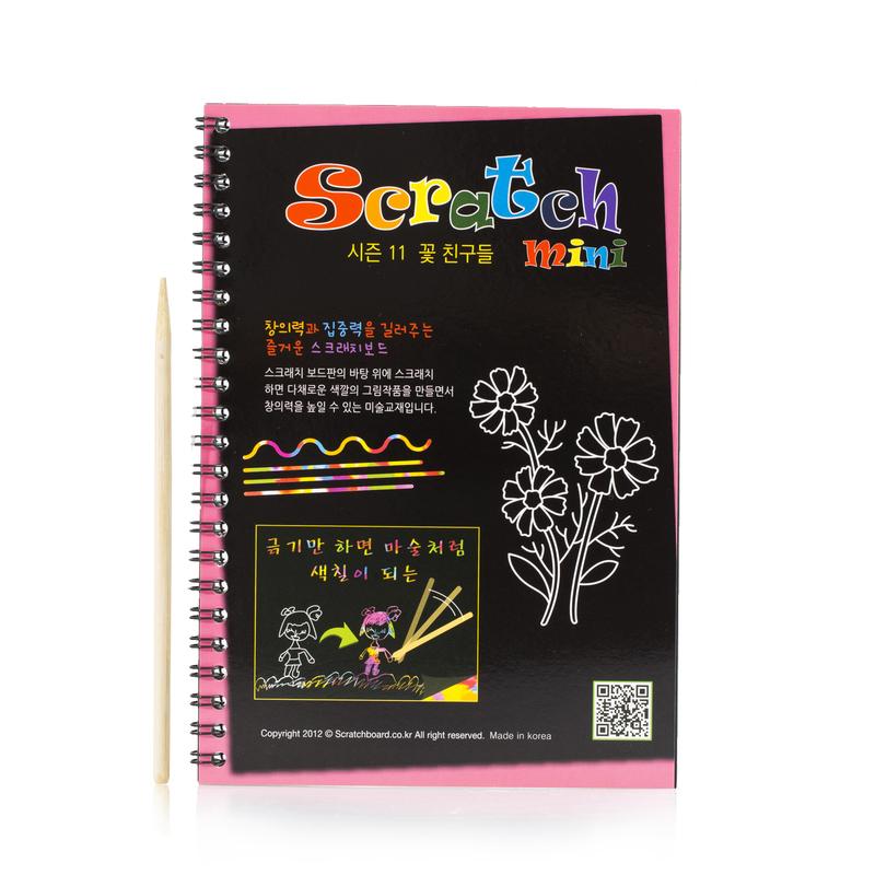 韩国原产Page ON刮刮板mini款(花朵系列) 彩色