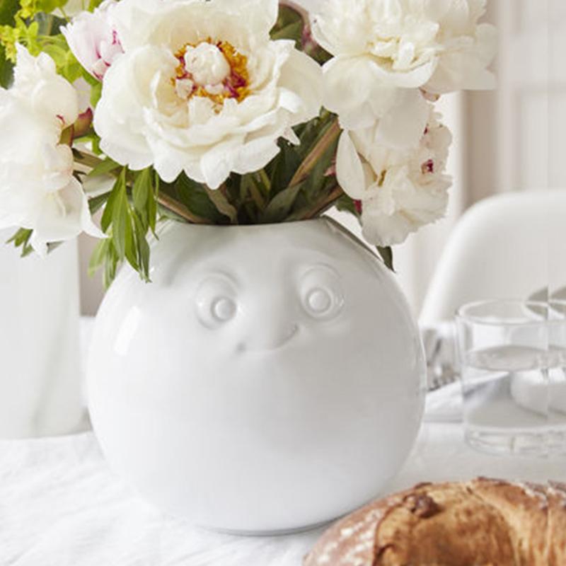 """德国原产Fiftyeight Tassen陶瓷卡通花瓶 """"可爱逗人"""" 白色"""