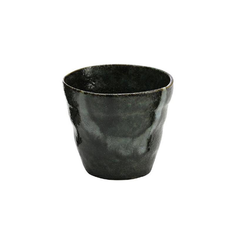 日本原产ceramic 蓝复古系列杯子酒杯水杯 绿釉杯