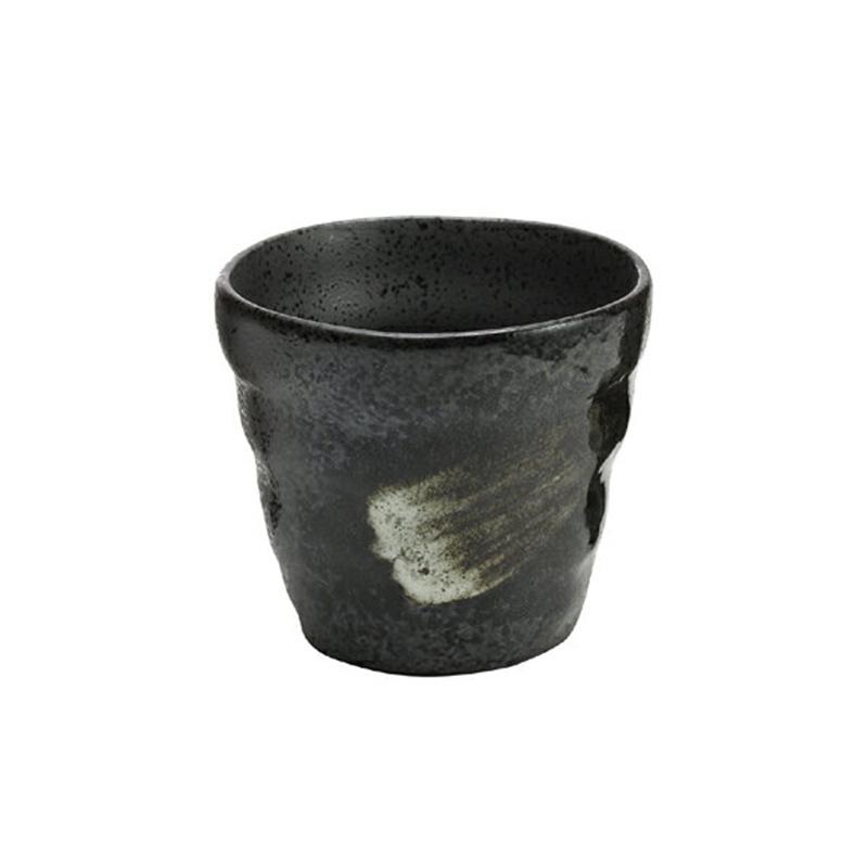日本原产ceramic 蓝复古系列杯子酒杯水杯 黑釉杯