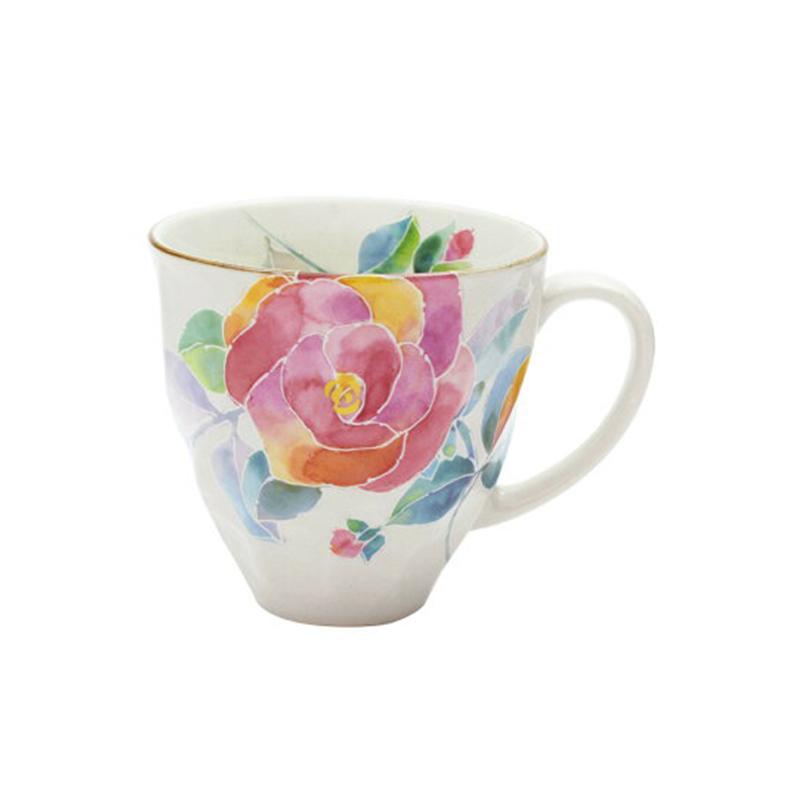 日本原产ceramic 蓝花语系列马克杯水杯 虞美人