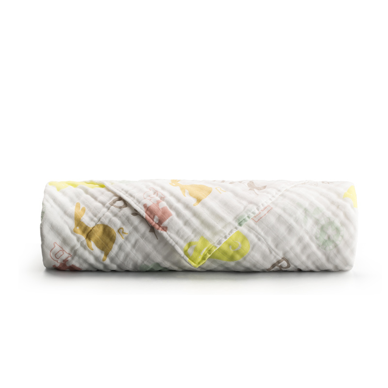 新西兰CRIA儿童六层纱布毛巾被炫彩五角星 彩色 M