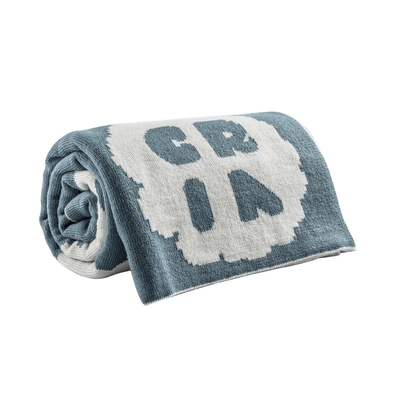 新西兰原产CRIA美丽奴羊毛婴儿薄毯羊毛盖毯绿色 绿色
