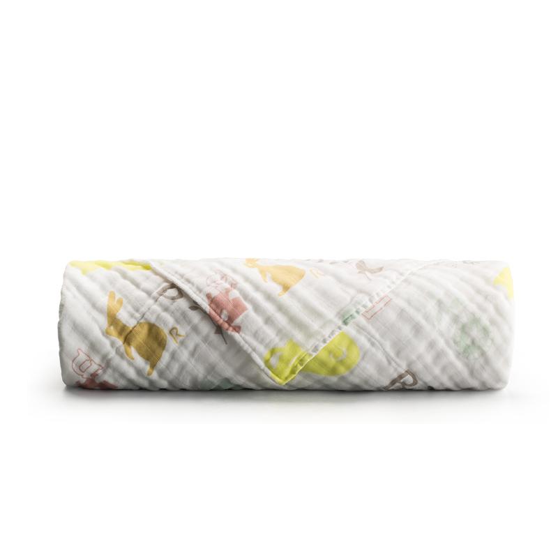 新西兰CRIA儿童六层纱布毛巾被粉色五角星 粉色 M