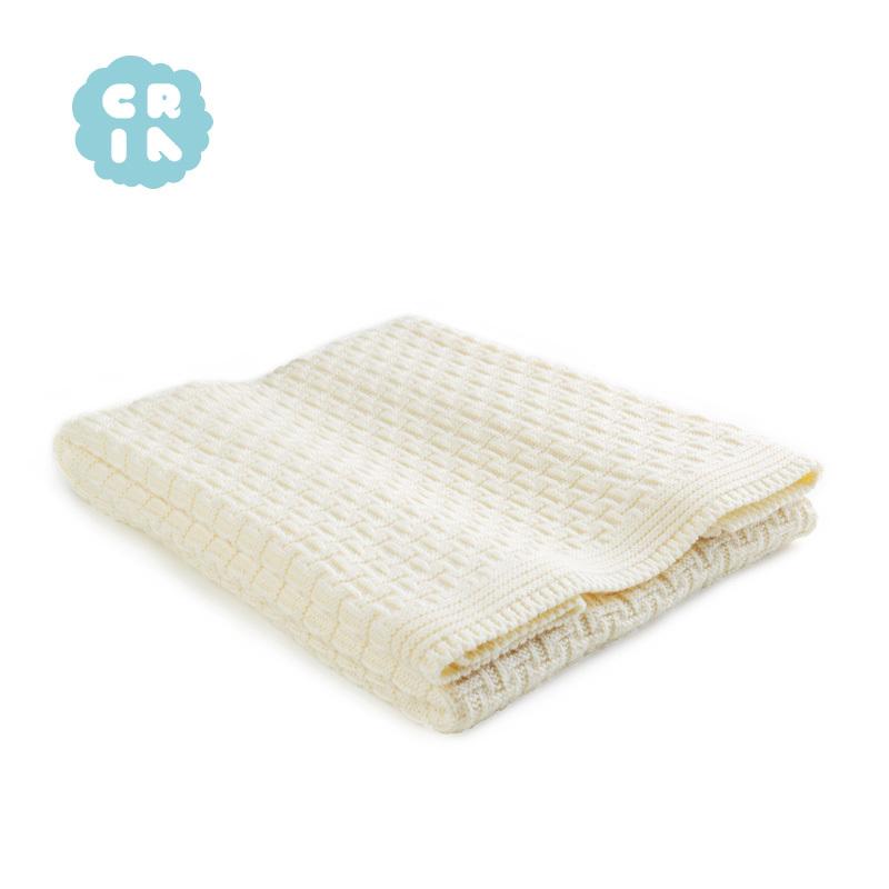 CRIA美丽奴羊毛婴儿毯 米黄 1x1.2m 米黄