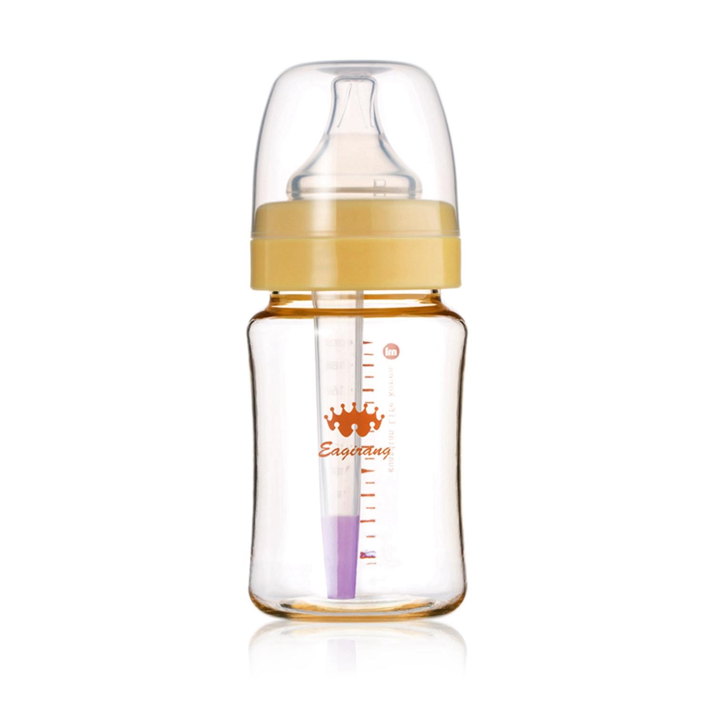 韩国原产Eagirang PES奶瓶宽口径奶瓶功能性奶瓶 防胀气 黄色 260ml