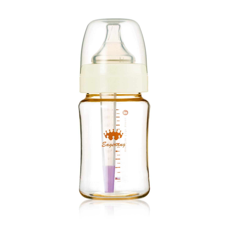 韩国原产Eagirang PES奶瓶宽口径奶瓶功能性奶瓶 防胀气 白色 200ml