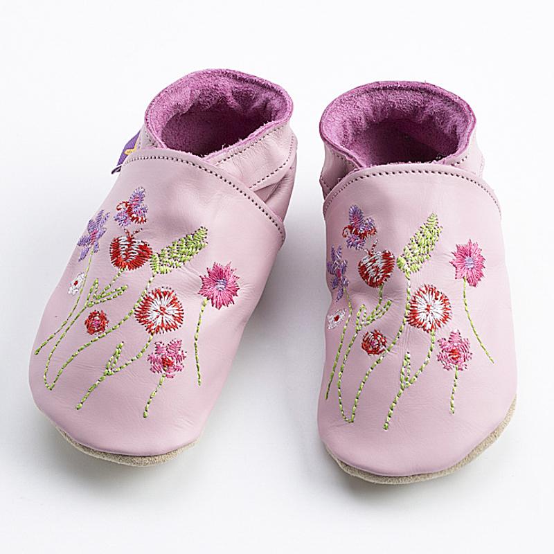 英国原产Starchild牛皮童鞋婴幼儿学步鞋软底鞋  小花园 嫩粉 M