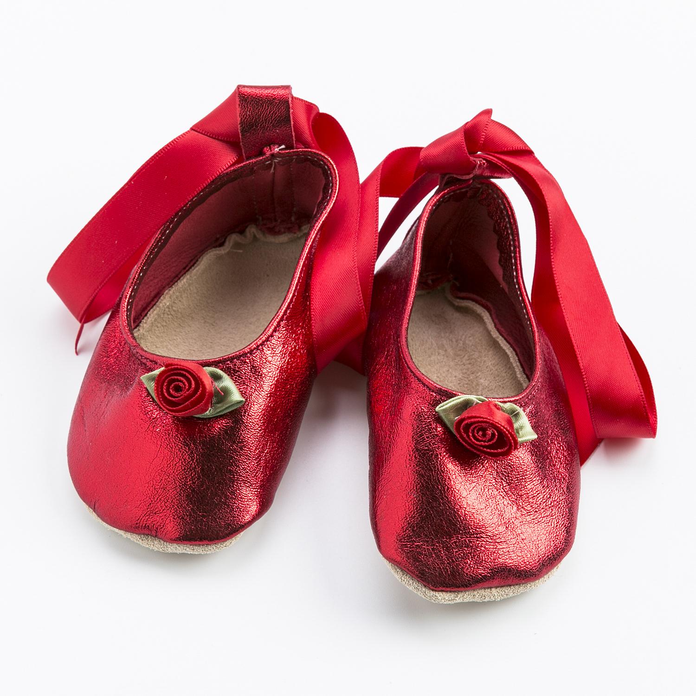 英国原产Starchild牛皮童鞋婴幼儿学步鞋软底鞋 闪光红 M